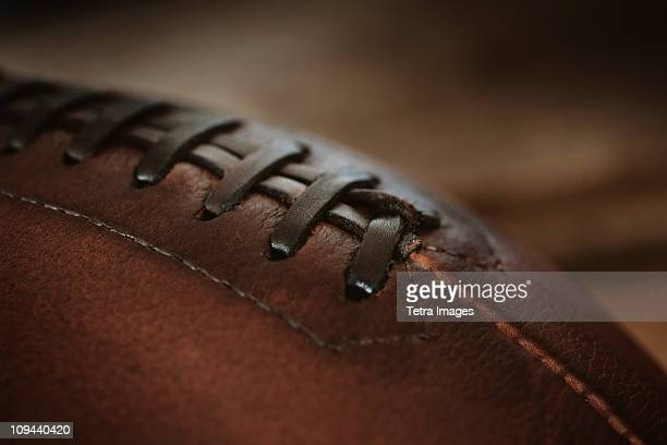 Close-up of american football ball