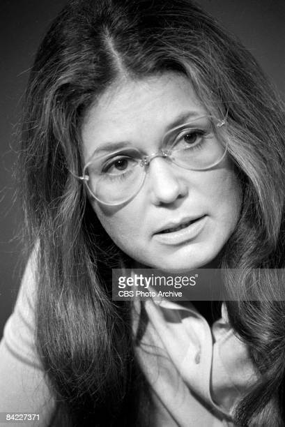 Closeup of American journalist political activist and one of the founders of the modern feminist movement Gloria Steinem in a 'Bicentennial Minutes'...