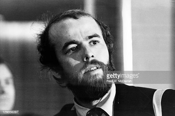 Closeup of American photographer David Hume Kennerly New York New York Febraury 13 1975