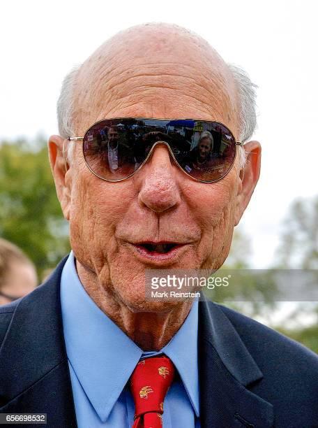 Closeup of American politician US Senator Pat Roberts as he visits the Turner Community Day festival at Steineger Field Kansas City Kansas October 12...
