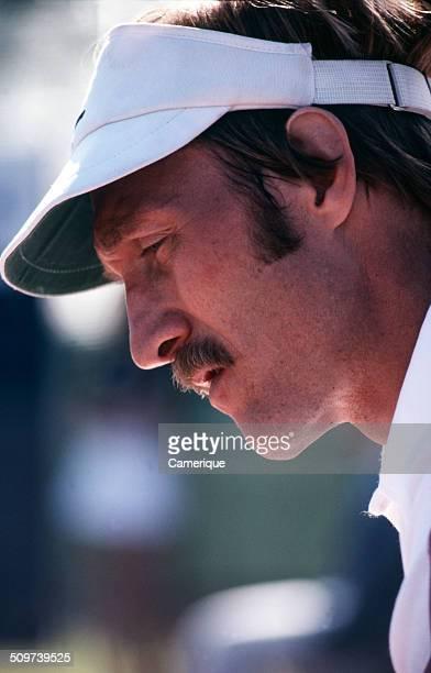 Closeup of American tennis player Stan Smith September 1982