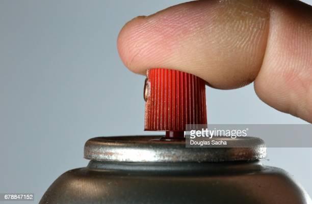 Close-up of an Aerosol spray can