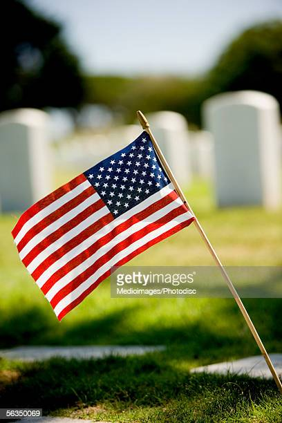 Close-up of an American Flag, Fort Rosecrans National Cemetery, San Diego, California, USA