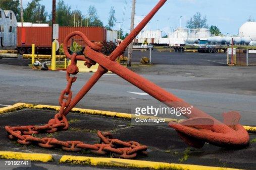 Close-up of an anchor : Foto de stock