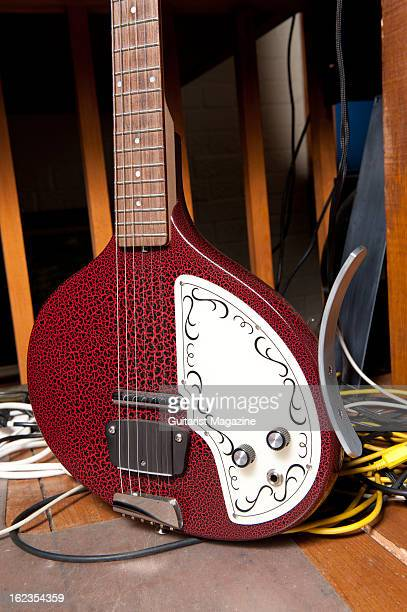 A closeup of an electric Sitar guitar owned by British progressive rock musician Steve Hackett photographed during a shoot for Guitarist Magazine...