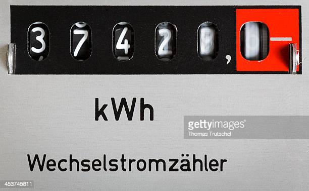 Closeup of an electricity meter also called energy meter on December 02 in Berlin Germany An electricity meter is a device that measures the amount...