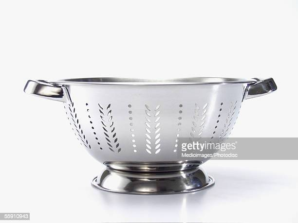 Close-up of an empty colander