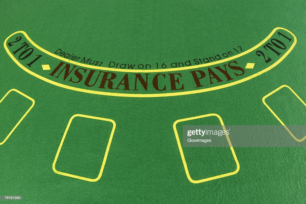 Close-up of an empty gambling table : Stock Photo