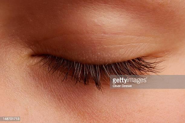 Close-up of an eyelash.