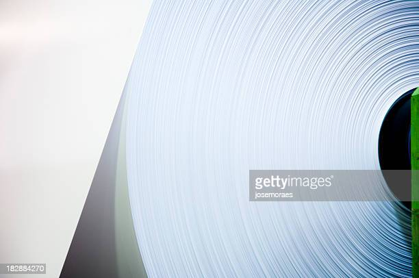 Close-up of an industrial sized roll of paper