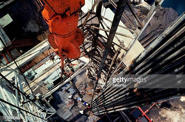 Close-up of an oil drill in the oil industry