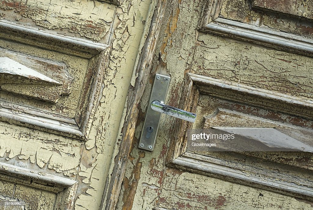 Close-up of an old door : Stock Photo
