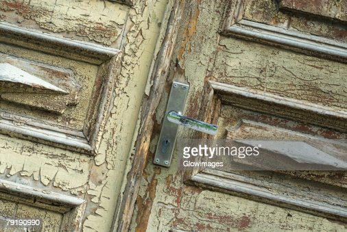 Close-up of an old door : Stock Photo