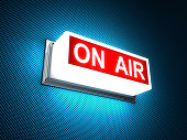 On Air warning sign - 3d render  [url=http://www.istockphoto.com/stock-photo-11799429-retro-radio.php?st=a5207b4][img]http://i.istockimg.com/file_thumbview_approve/11799429/1/stock-photo-11799429-retr