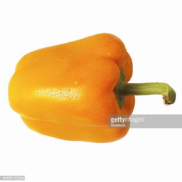 Close-up of an orange bell pepper