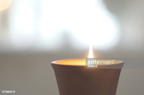 Close-up of aroma candle light