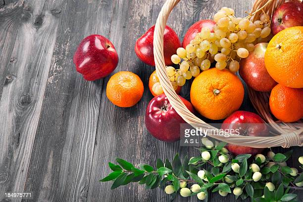 Close-up of assorted fresh juicy fruits
