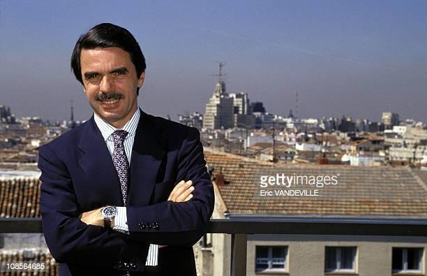 Closeup of Aznar Jose Maria in Spain in February 1996