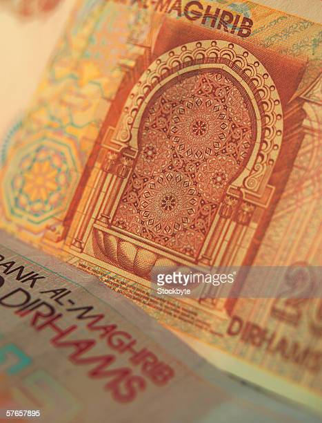 Close-up of Bahraini bank notes