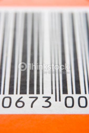 Close-Up Of Barcode : Stock Photo