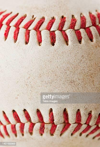 Close-up of baseball ball