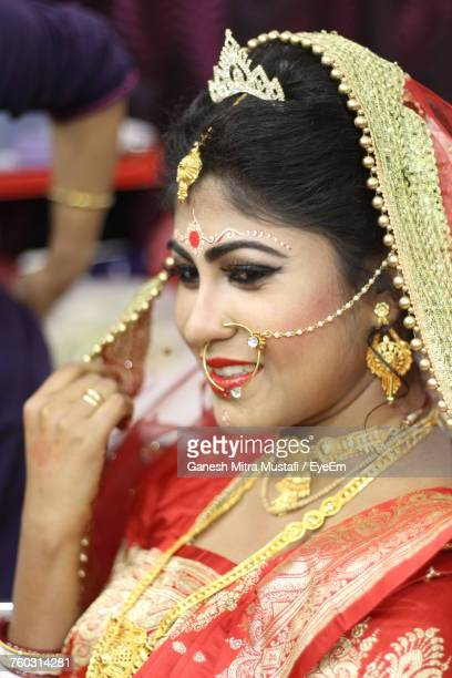 Close-Up Of Beautiful Young Bride