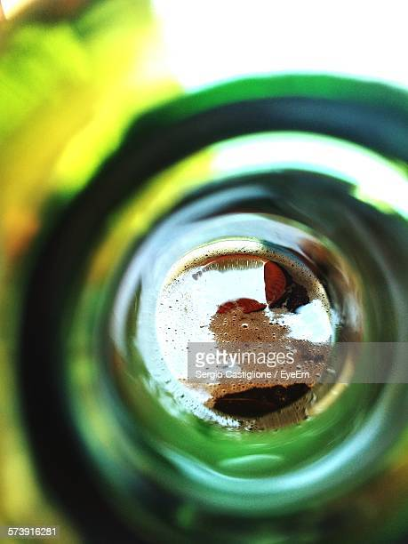 Close-Up Of Beer In Bottle