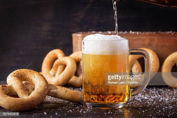 Close-Up Of Beer In Glass