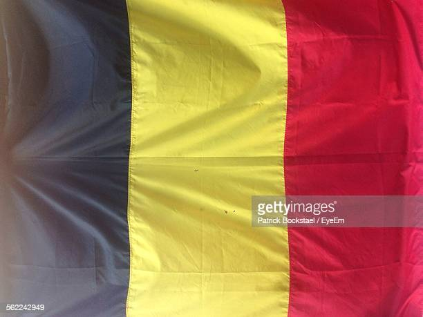 Close-Up Of Belgian Flag
