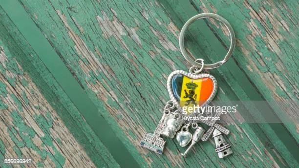 Close-up of Belgium Keychain