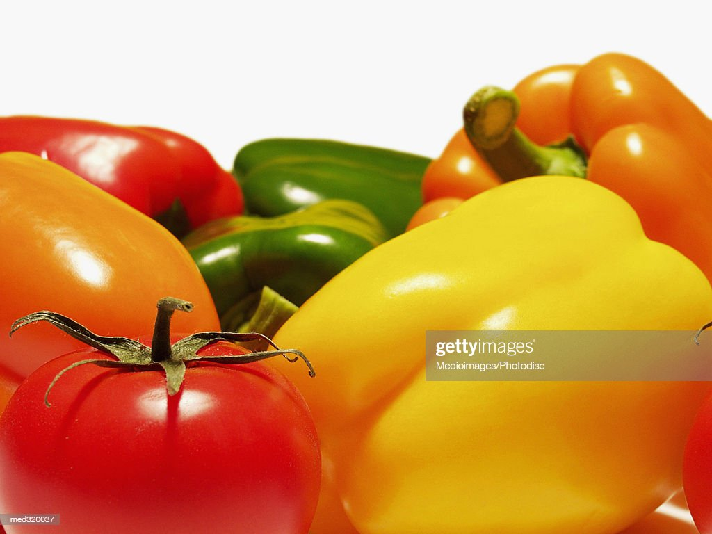 Close-up of bell peppers : Stock Photo