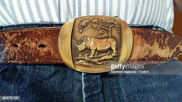 Close-Up Of Belt On Person