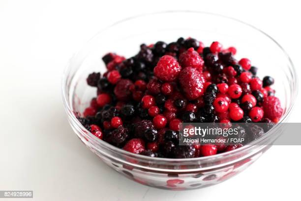 Close-up of berry fruit in bowl