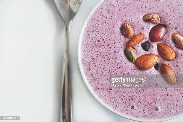 Close-Up Of Berry Smoothie