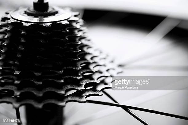 Close-up of bicycle gears
