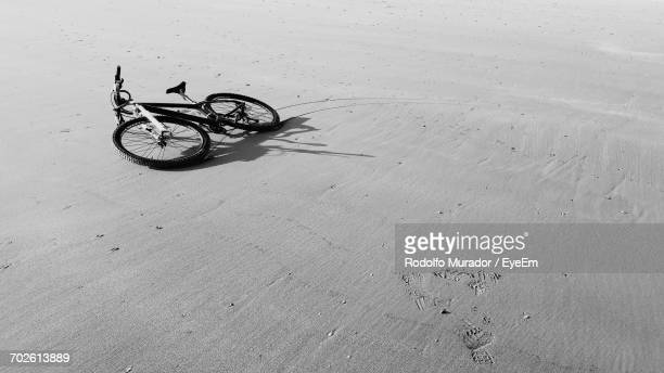 Close-Up Of Bicycle On Sand
