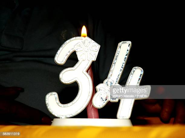 Close-Up Of Birthday Candle