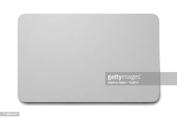 Close-Up Of Blank Credit Card On White Background