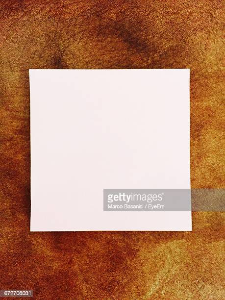 Close-Up Of Blank Paper On Table