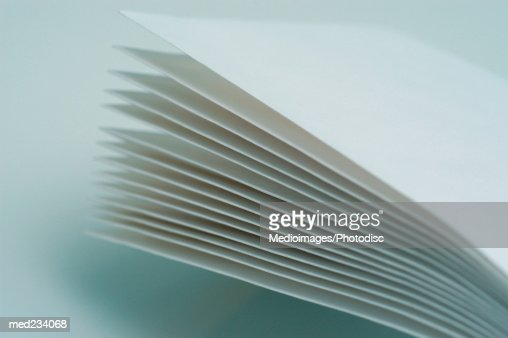 Close-up of blank sheets of paper