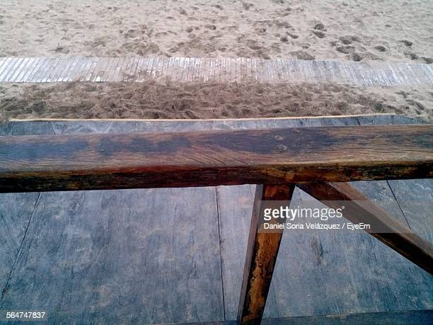 Close-Up Of Boardwalk On Beach