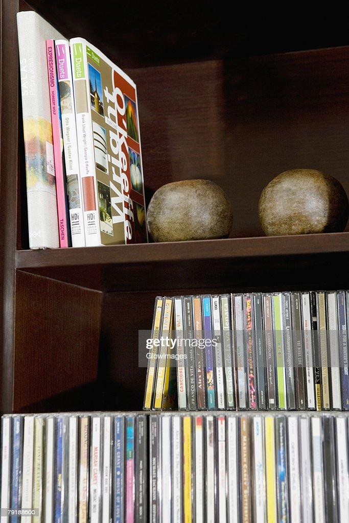 Close-up of books on a bookshelf : Stock Photo