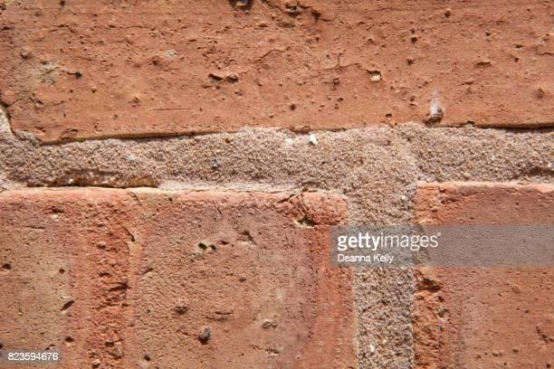 Closeup of Brick and Mortar Wall