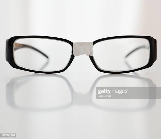 Close-up of broken glasses