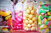 Close-Up Of Candies In Jar At Store