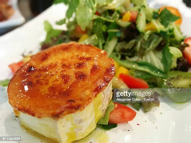 Close-Up Of Caramelized Goat Cheese