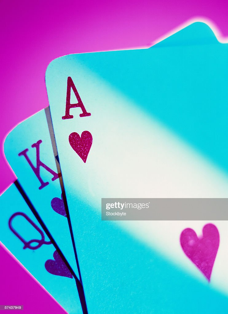 close-up of cards from a playing deck : Stock Photo