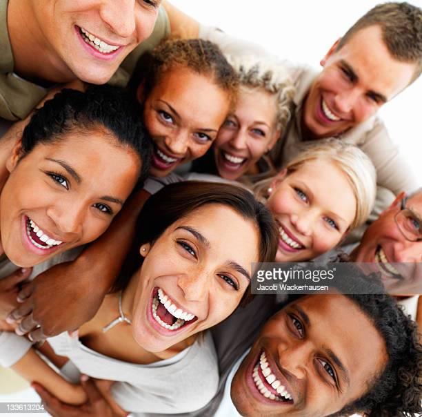 Nahaufnahme von fröhlich Freunde