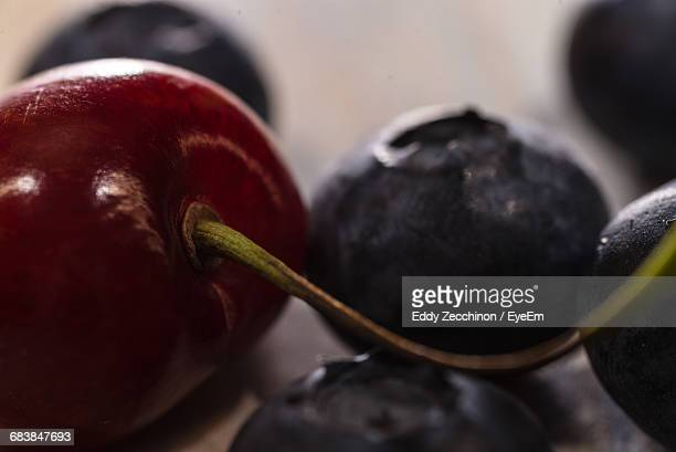 Close-Up Of Cherry And Blueberries