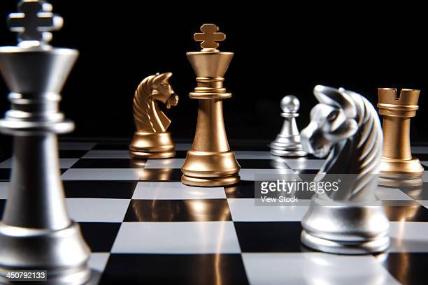 Close-up of chess